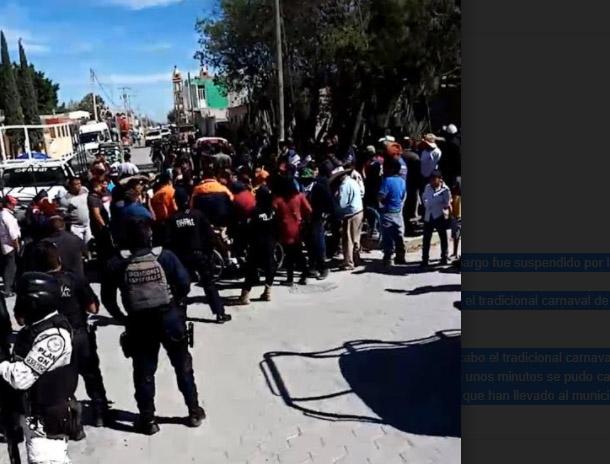 Guardia Nacional suspende carnaval en Tlacotepec de Benito Juárez