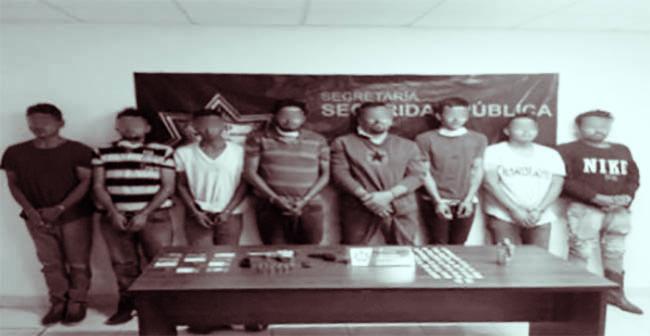 Caen 8 integrantes del CJNG con armas y droga en Nopalucan