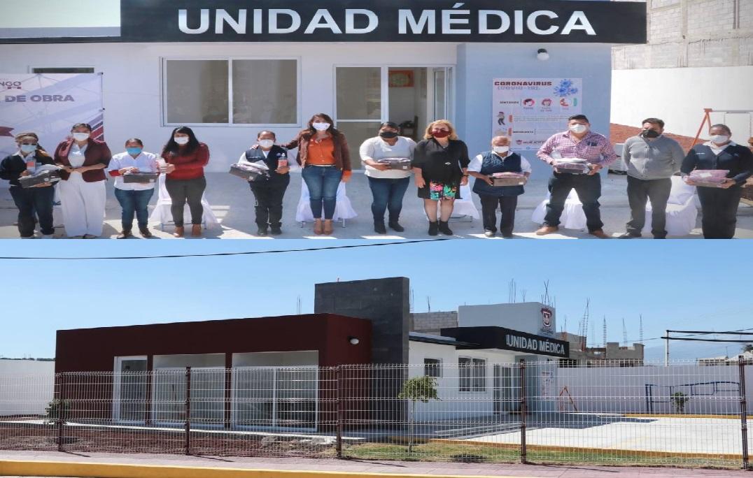 Entrega Angélica Alvarado Casa de Salud en Huejotzingo