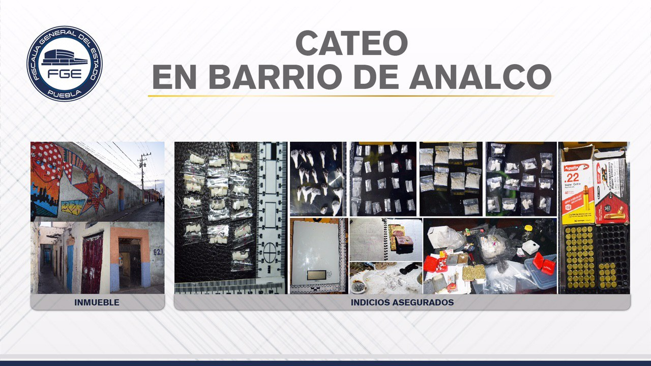 Caen 10 narcomenudistas con 169 dosis de droga y armas en Analco