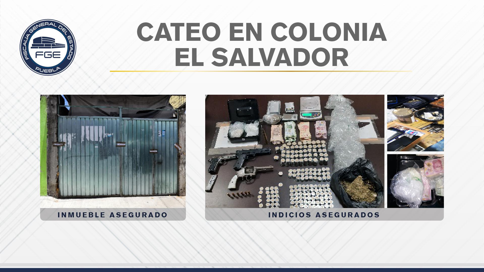 Catean casa en Puebla capital y hallan cristal, marihuana, cocaína y crack