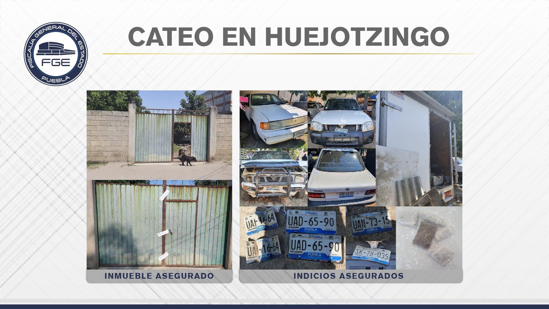 Durante cateo hallan unidades y placas robadas en Xalmimilulco
