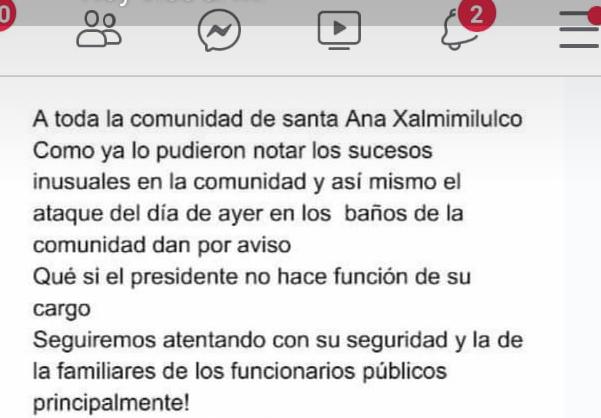 Ubican a presunto responsable de explosión en baños de Xalmimilulco