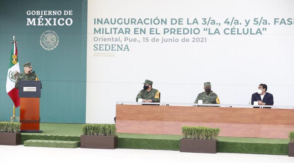 Inauguran Barbosa y Sedena tres fases más en La Célula para la industria militar