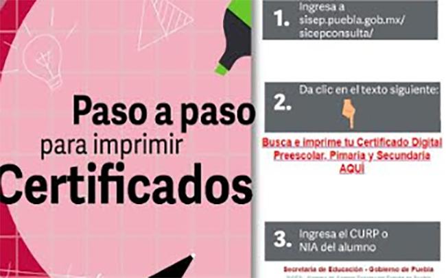 Ya puedes consultar certificados digitales de estudios en Puebla