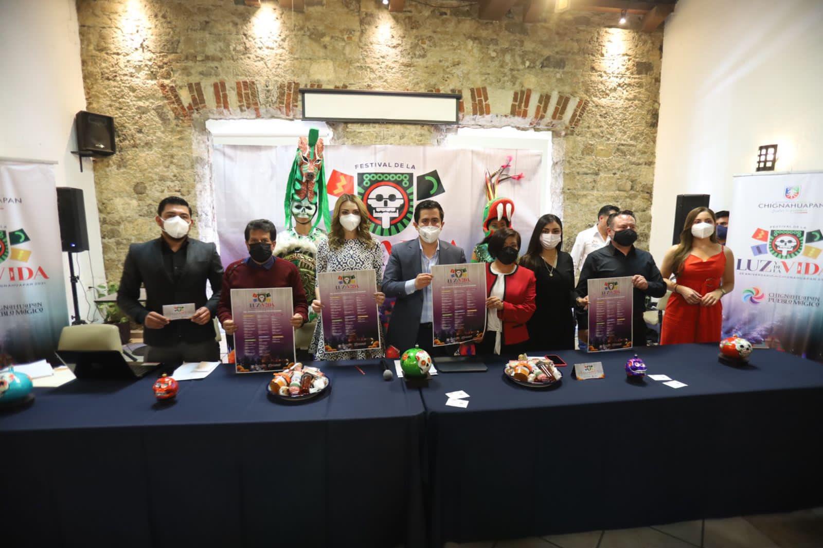 Presentan el Festival de la Luz y de la Vida en Chignahuapan
