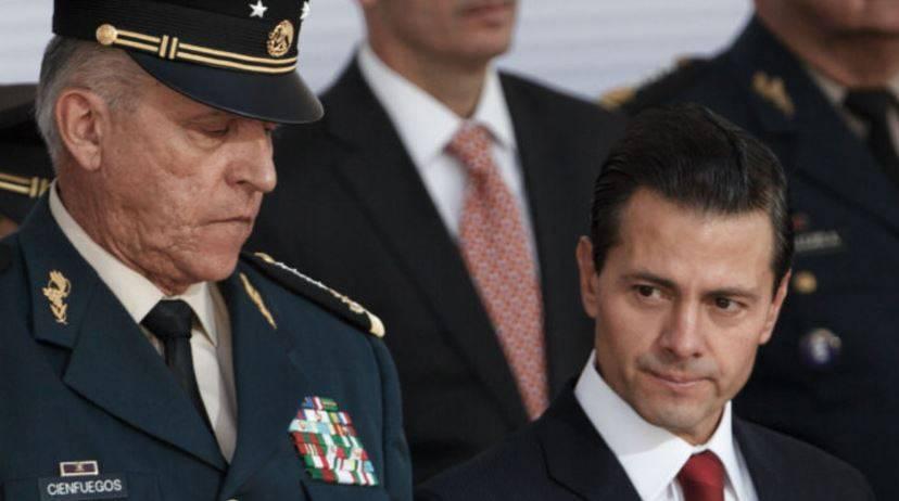 El Padrino y general Cienfuegos, su socio ejecutado, el H-2, y el almirante Soberón