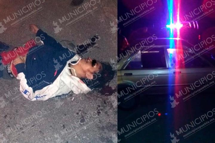 Ebrio mató a un joven y atropelló a otros dos en Tlachichuca