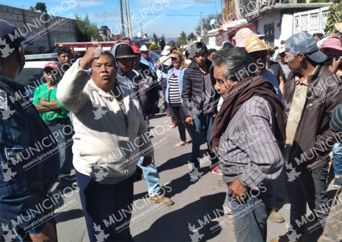 Asaltan a campesina en Ciudad Serdán y pobladores los detienen