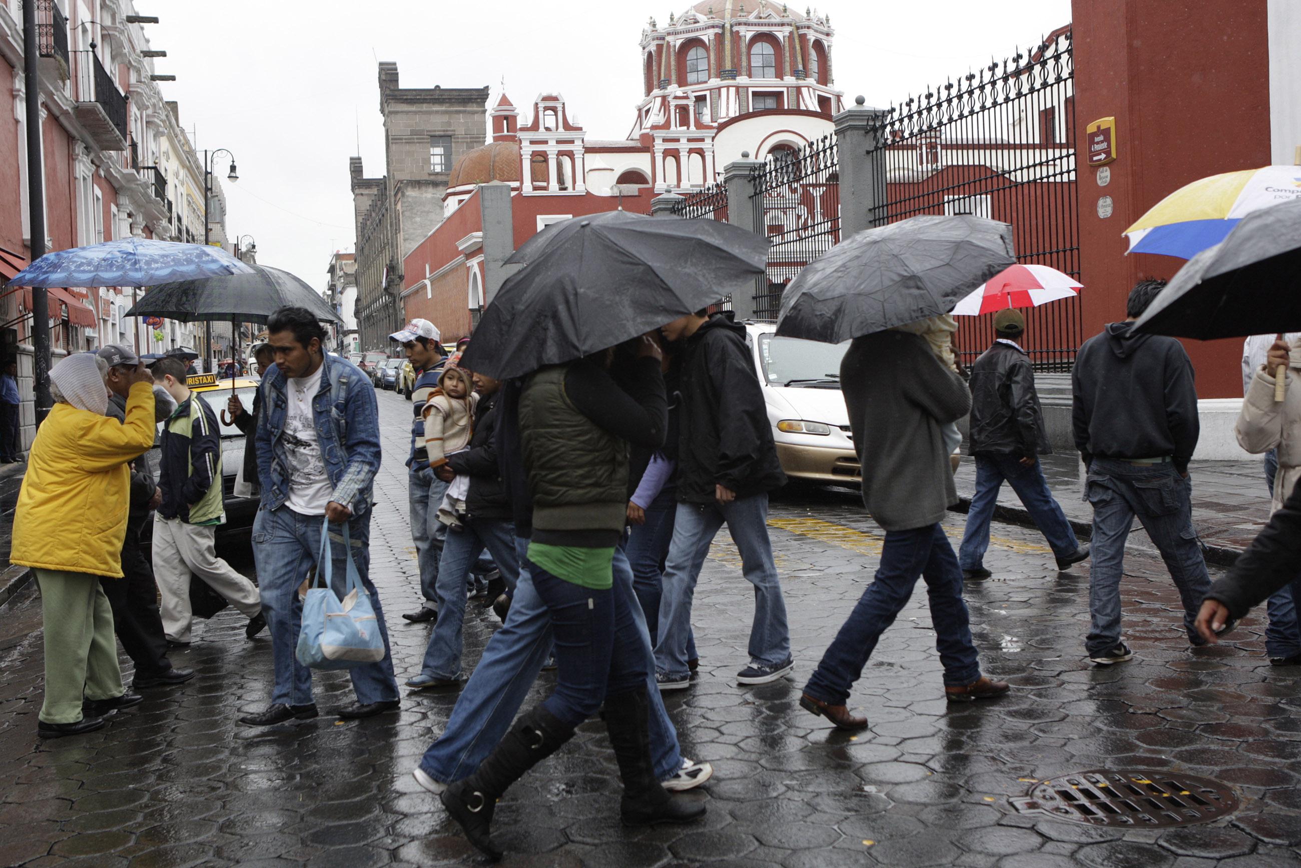 Cielo nublado con probabilidades de lluvia en Puebla