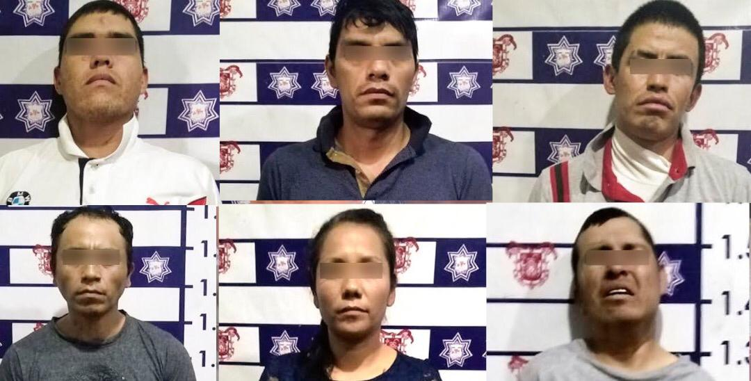En Huejotzingo detienen a 11 en diferentes actos delictivos