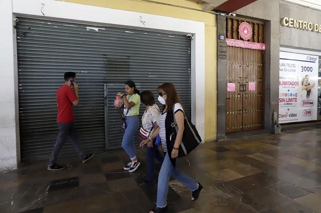 Verifican Protección Civil y SSP de Puebla que comercios cumplan medidas sanitarias