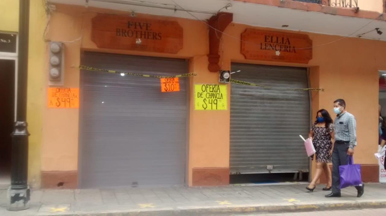 Cierran comercios en Huauchinango por duros operativos sanitarios