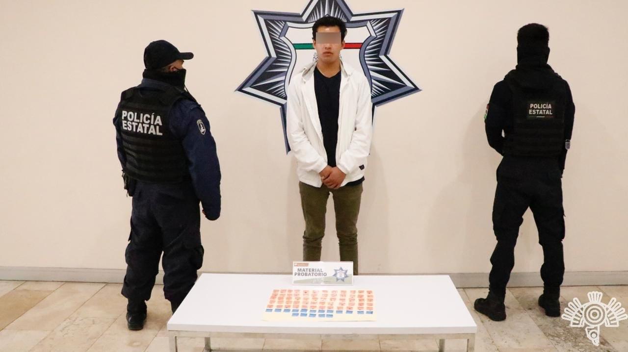 Lo detiene por vender comida con marihuana en Puebla capital