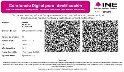 Comienza INE la recepción de solicitudes de constancias digitales