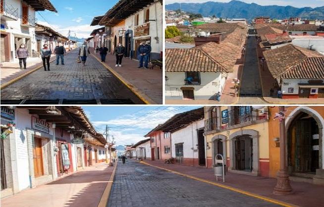 Rehabilitan en Zacatlán el corredor peatonal Los Jilgueros