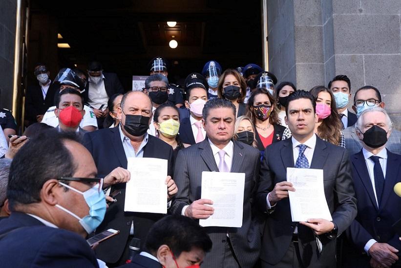 Impugnan PAN, PRI y PRD ante la Corte revocación de mandato