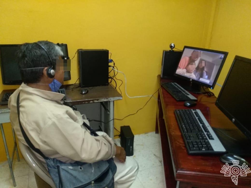 Después de 10 años, preso ve a su hermana a través de videollamada