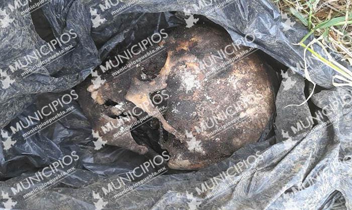 Dejan cráneo humano en bolsa de plástico en calles de Huauchinango