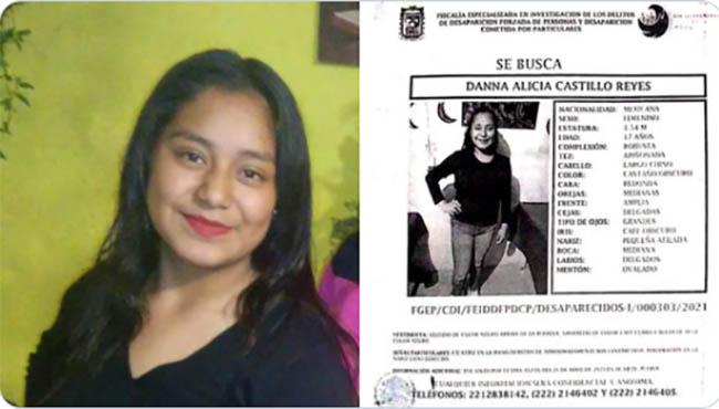 Danna Alicia de 17 años desaparece en Acajete