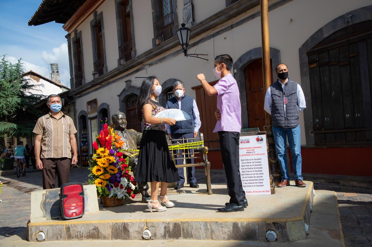 Recuerdan en Zacatlán a don Pedro Escobedo, a 100 años de su nacimiento
