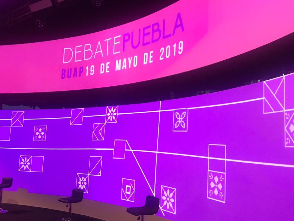 Así luce el escenario del debate entre los candidatos a la gubernatura