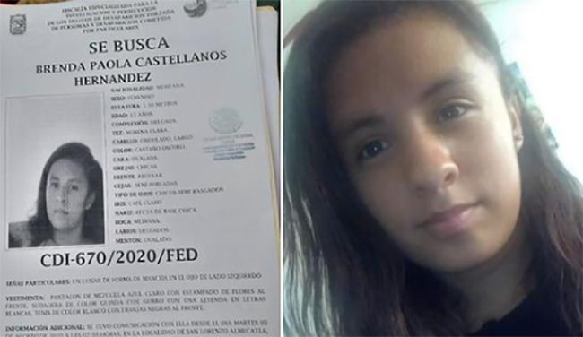 Buscan a Brenda Paola de 13 años; desapareció en Cuautlancingo