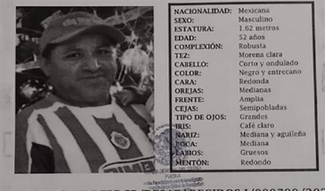 Rafael desapareció en la colonia Valle del Paraíso en Puebla
