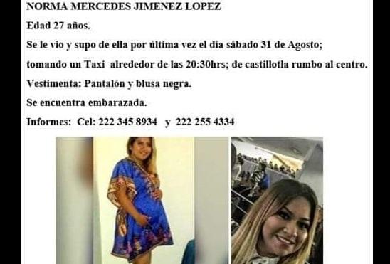 Norma está embarazada y desapareció en Castillotla