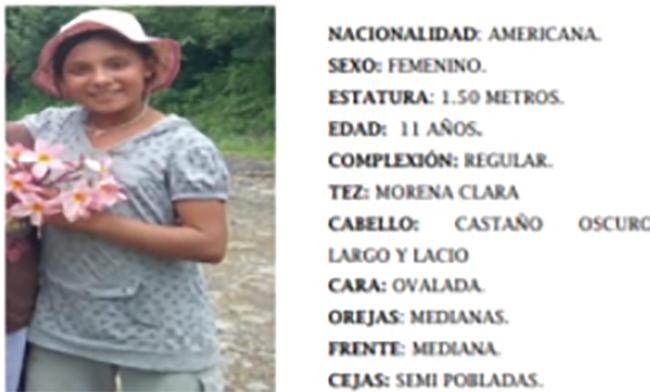 Jasmine de 11 años desapareció en Santa Catarina en Puebla