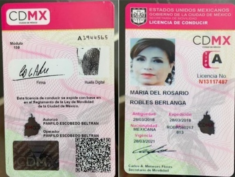 Nueva investigación contra Rosario Robles, ahora por licencia falsa