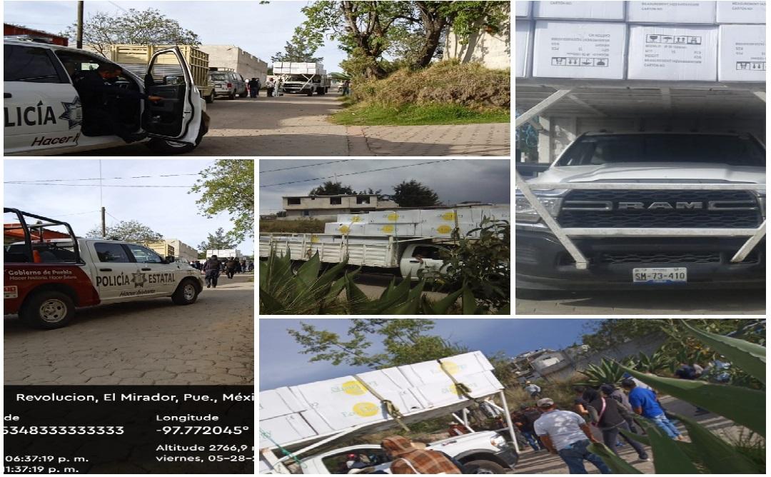 Retienen calentadores en Ixtacamaxtitlán y la SSP los libera