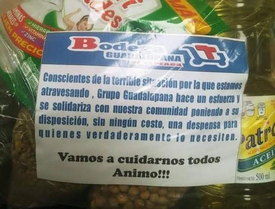 Grupo Guadalupe regala despensas en Tepeaca para familias sin recursos