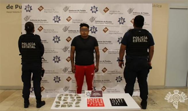 Cae integrante de la banda de El Croquis con cristal y cocaína en Puebla