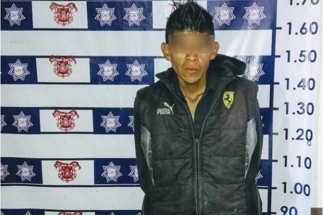 Sorprenden a ladrón de autopartes en Huejotzingo