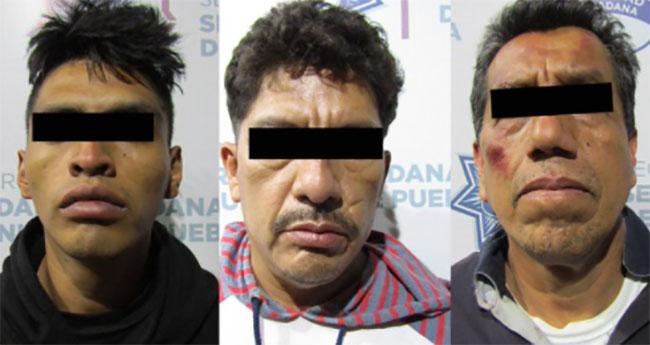 Cae banda de robo al transporte público en Puebla capital