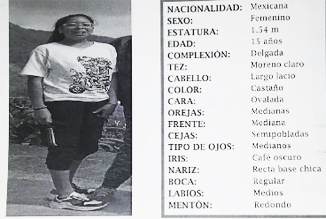 Desaparece Danahe de 15 años en San Andrés Cholula