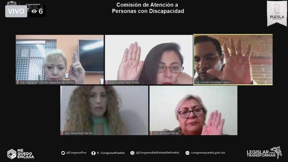 Reformas garantizarán inclusión de las persona con discapacidad en Puebla
