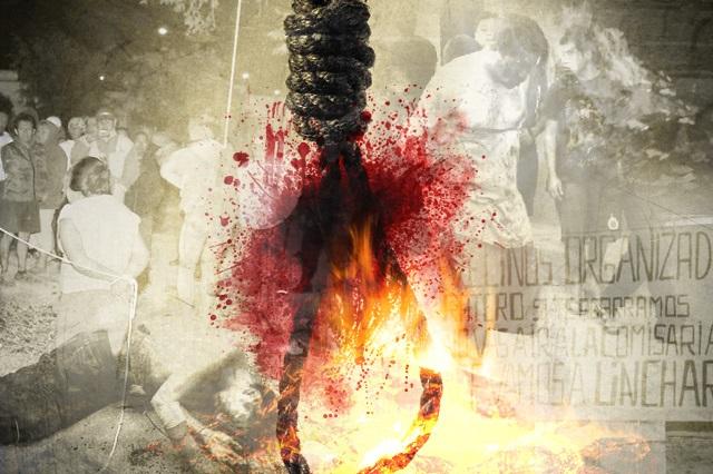 Detienen y casi queman vivos a dos presuntos ladrones en Rafael Lara Grajales