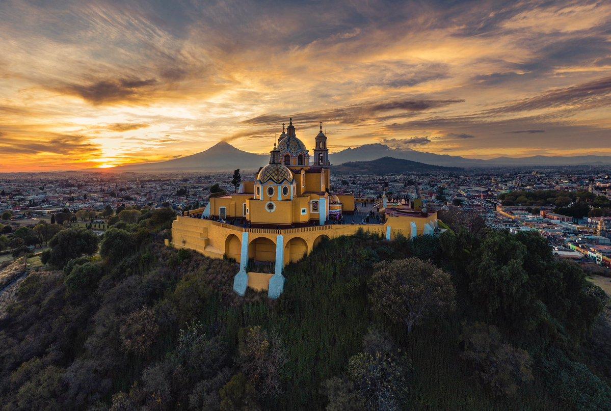 Santuario de Nuestra Señora de los Remedios, en el pueblo mágico de Cholula.