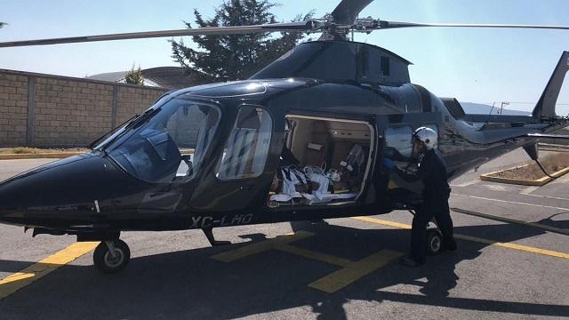 Helicópteros del Estado brindan servicio médico en Puebla