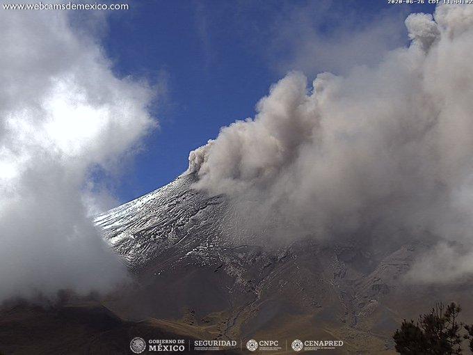 Registra volcán Popocatépetl constante actividad esta mañana