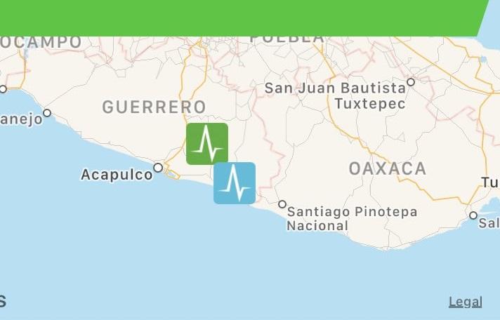 Tiembla en Guerrero y lo sienten en Puebla, Oaxaca y hasta Cdmx