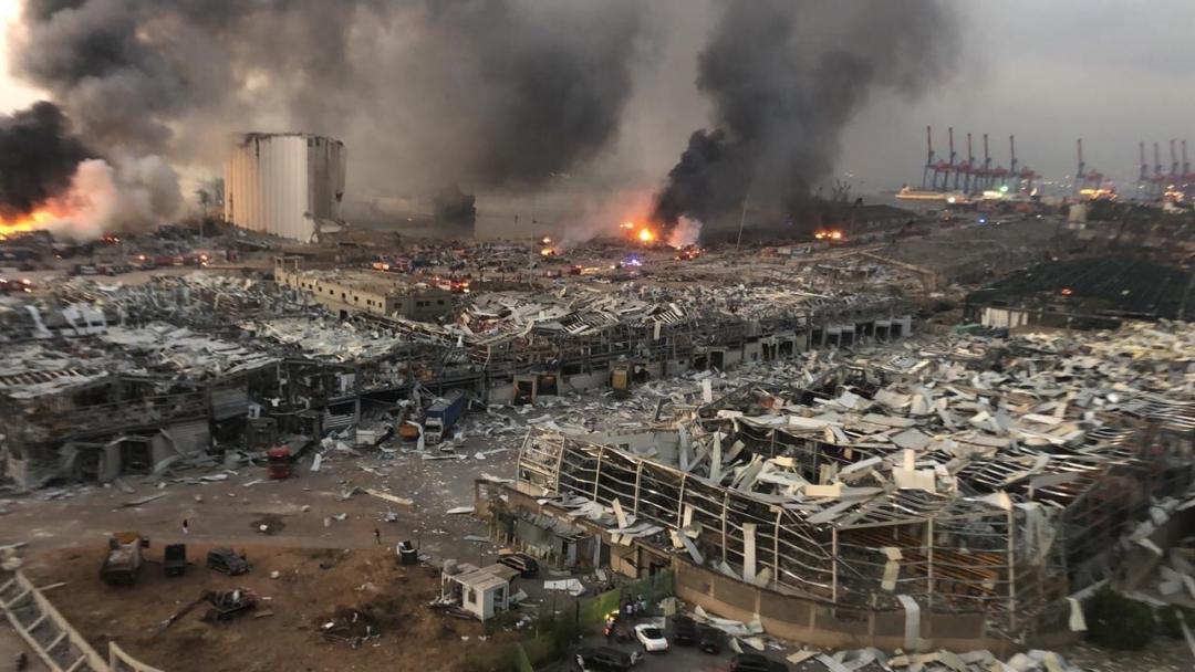 GALERÍA Explosión en Beirut dejó cientos de heridos y daños materiales