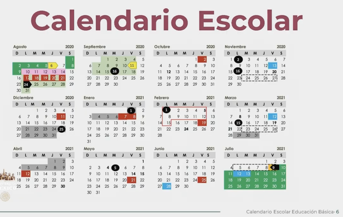 Así quedó el calendario escolar 2020-2021 de la SEP