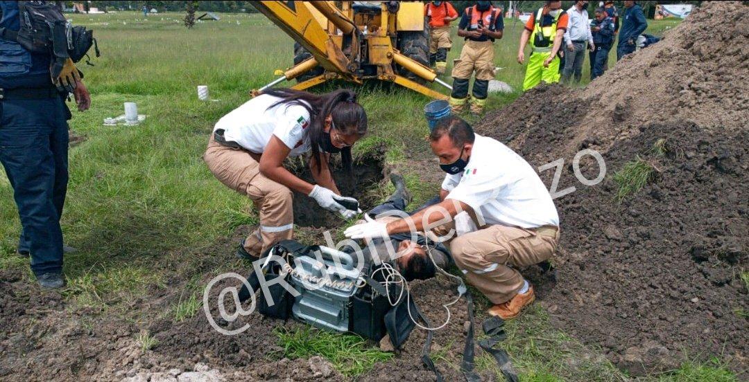 Terminó sepultado mientras excavaba en el panteón de Totimehuacán