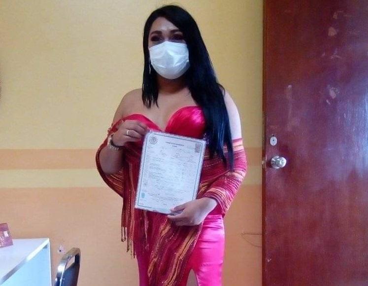Eimy, primera mujer trans con acta de nacimiento en San Gabriel Chilac