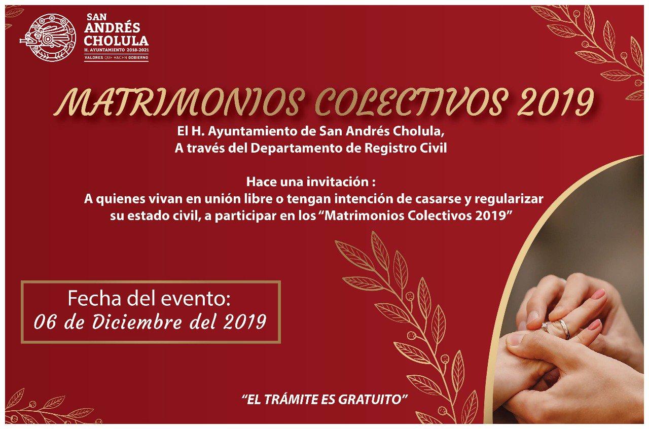 Organiza San Andrés Cholula matrimonios colectivos; habrá rifas