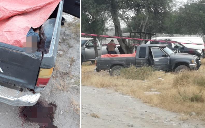 Golpeado y con tiro de gracia dejan cuerpo en batea de camioneta en Tecamachalco