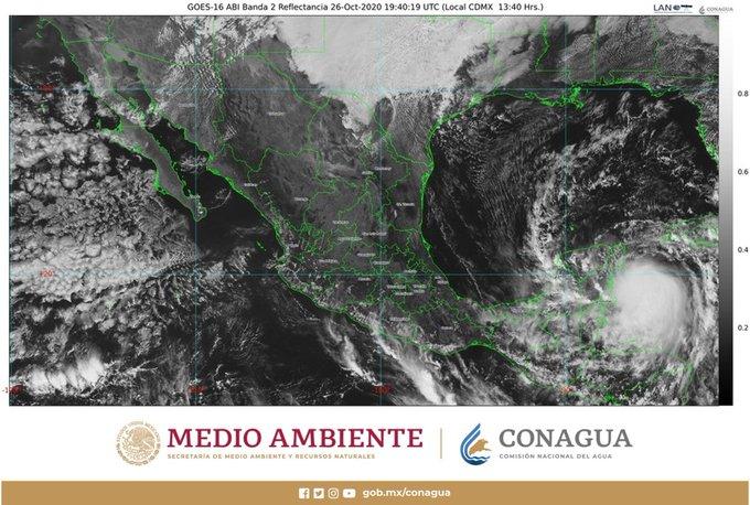 En alerta roja 8 municipios de Quintana Roo por Huracán Zeta